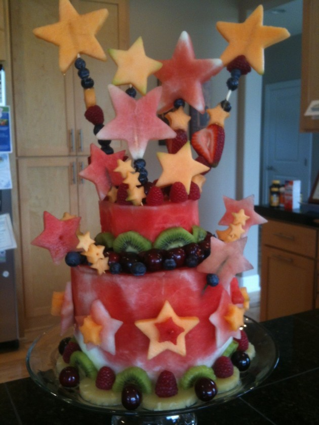 "... to cake…and create a watermelon ""cake"" for your next bash"
